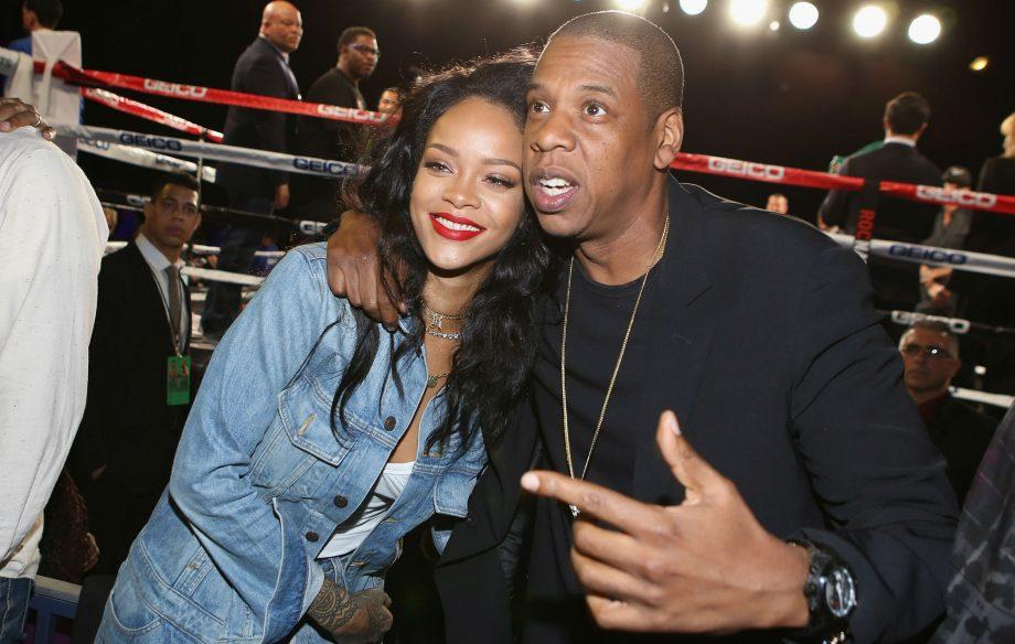 Jay Z na Rihanna wakiwa pamoja