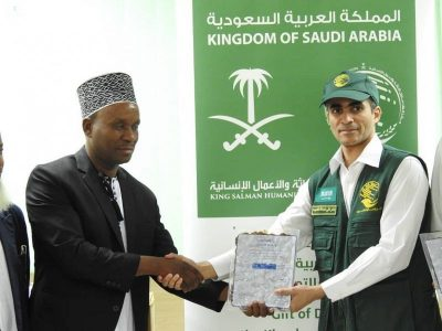 Saudia Arabia yakabidhi tende Zanzibar