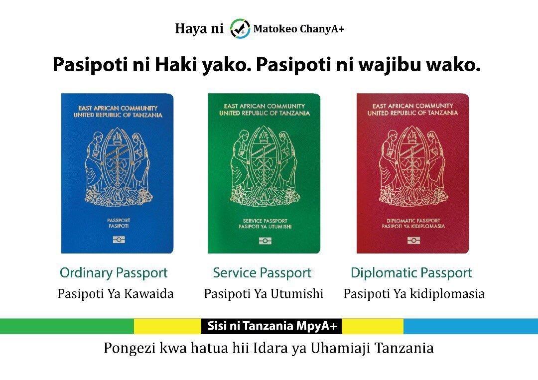 apply e-passport Tanzania